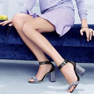 J CREW Jeweled Strappy High Heels 8 NEW $268